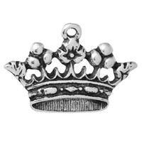 "Wholesale Wholesale Gold Crown Charms - wholesale Charm Pendants Crown Antique Silver 30mm(1 1 8"") x 20mm( 6 8""),20 PCs new jewelry making DIY"