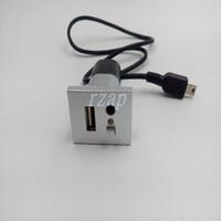 ingrosso aux per ford-Accessori auto Pulsante aux interfacce Usb con cavo mini USB per Ford Focus Cd Dvd Players Usb Aux