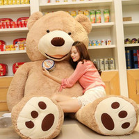 Wholesale teddy home resale online - 2017 cm giant huge big brown teddy bear cover shell stuffed animal plush soft toy