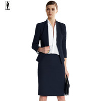UR 12 Black Spring elegante del progettista handmade professionale Bussiness Completi donna vestiti di pannello esterno uniforme Office Lady Blazer Set Custom Made