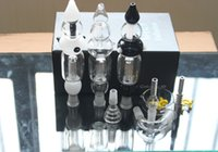 Wholesale Clear Box Nails - Colorful Nectar Collector 2.0 Kit 14.4mm Joint In Black Clear White Colors Full Kit with 8 Accessories Titanium Nails