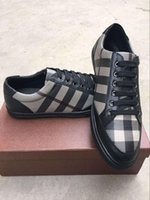 Wholesale Gingham Buttons - Hot 2016 new men luxury shoes genuine leather gingham brand shoes high quality men casual shoes size 38-44 free shipping