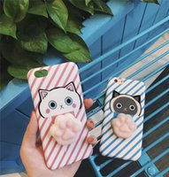 New Squishy Pig Cell Phone Cases Soft Blando Silicone Cat 3D Animal TPU Phone Cases para Iphone 6 4.7