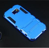 étui de téléphone armure de fer homme galaxie achat en gros de-Chine Wholesale Étui Iron Man Armor avec support pour Samsung Galaxy S6 / S6 edge Mobile Phone Cover