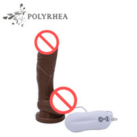 Wholesale Suction Cup G Spot - Electric Remote Control Suction Cup Vibrator Dildo 10 Frequency Vibrator Sex Toys For Female Masturbation Big Dildos HC84008
