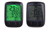 Wholesale Wired Cycle Computer Backlight - Waterproof 28 Multifunction Wireless Bike Bicycle Cycling Computer Odometer Speedometer LCD Backlight Backlit Computer H11025 no battery
