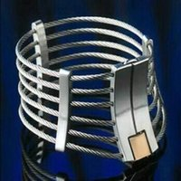 Wholesale Steel Ring Collar Bdsm - 2017 Latest Unisex Stainless Steel Wire Necklet Neck Ring Collar Restraint Posture Bondage Chastity Lock BDSM Sex Games Toy Product
