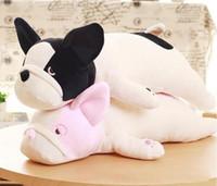Eiderdown Cotton Lying Dog Plush toy French bulldog Doll Stuffed Animal Children Birthday Gift (no pink color)