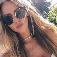 Wholesale Pretty Necklaces - Hot selling Shinny Mental Star Shape Beads pretty women choker necklaces gold wave neck choker in bulk stock CN007