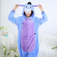 Cute Adult Christmas Gift cosplay Homens Mulheres Winter Spring Fleece Cartoon Animal Casais Onesie Pijamas Costume Donkey Eyore Onesies