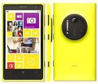 telefon 32g toptan satış-Yenilenmiş Orijinal Nokia Lumia 1020 Unlocked Cep Telefonu 32G 41MP Çift Çekirdekli 4.5