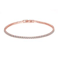 Wholesale Cz High Quality - Wholesale-high-quality Women Tennis Bracelet Luxury rose gold Plated Round Clear CZ Tennis Bracelets & Bangles for Elegant Party Jewelry