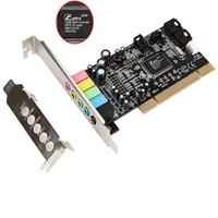Wholesale Raspberry Computer Pi - Pci Sound Card Encoding 6 Audio Sound Card Cmi8738 Computer Sound Card 5.1 Stereo Sound Card