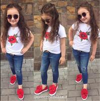 tee-shirt solide bébé fille achat en gros de-Enfant en bas âge bébé fille rose blanc T-shirt vêtements de mode pour bébés vêtements à manches courtes en coton tops filles décontractées mignon t-shirts de couleur unie Tees vêtements
