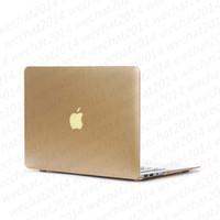 macbook pro dhl toptan satış-Moda Metal Kauçuk Kılıf Kapak Apple Macbook Air Pro için 11 '' 12 '' 13