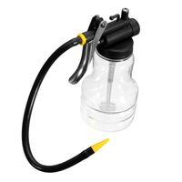 гибкая машина оптовых-Wholesale- 250cc Transparent High Pressure Pump Oiler Lubrication Oil Can Plastic Machine Oiler Grease 245mm Length flex Gun