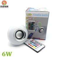 Wholesale Lead Suit - LED RGB Color Bulbs Speaker Lights Lamps 16 colors E27 Wireless Bluetooth Remote Control Smart Speaker Music Audio Speaker Suit for iphone