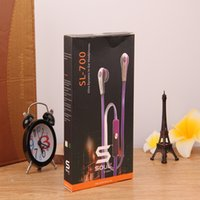Wholesale headphones headsets sms for sale – best New SL700 In Ear Music Headphone SMS Audio Headset With Mic Retail Box for Cell Phone Earphone Universal Earbuds