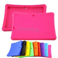 Wholesale free 7inch tablet online - 150pcs Free DHL High quality Colorful Silicon Case Protective Cover For inch Q88 A33 A23 A13 Q8 Dual Camera Tablet PC Cases MID