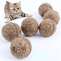Wholesale Catnip Toys - 6 pcs balls  set Pet Cat Natural Catnip Treat Ball Favor Home Chasing Chewing Toys Healthy Safe Edible Treating
