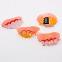 Wholesale funny teeth jokes - Hot Joke Teeth False Teeth Rotten April Fool's Day Funny Fake Teeth Dentures Halloween Prop Costume Fancy Dress Party