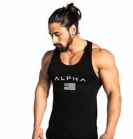 Wholesale Xxl Mens Tank Top - 2018 Men Summer gyms Fitness bodybuilding Hooded Tank Top fashion mens Crossfit clothing Loose breathable sleeveless shirts Vest