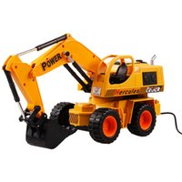 Wholesale Toys Electronic Truck - Professional simulation car engineering vehicle Remote control RC truck electronic radio control Excavator model toy truck