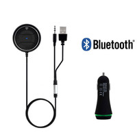 Wholesale Sticker For Car Music - Bluetooth Car Kit NFC AUX Music Receiver Handsfree Car AUX Speaker for Smartphone MP3 With Dual USB Car Charger Magnetic Sticker