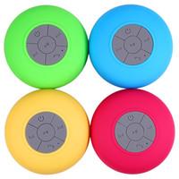 Wholesale Hot Audio Box - Waterproof Wireless Bluetooth Speaker Dustproof Mini Speakers Handfree Sucker Colorful BTS-06 HOT Good Quality DHL Free
