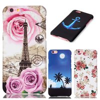 Wholesale Galaxy Note Fashion Hard Cases - For iphone 6 6s plus Galaxy S7 edge Fashion Floral Embossed PC Case Flower Hard Phone Cover Samsung S6 Note 5 Huawei P9