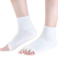 Wholesale Pink Toe Separator - Wholesale-1 Pair Massage Open Five Toe Separator Socks Foot Alignment Pain Relief Hot Socks New Design