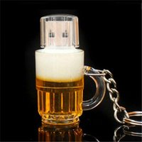 Wholesale Memories Beer - New Cartoon Beer Bottle USB 2.0 Memory Flash Stick Pen Drive Genuine Full Capacity For PC 64GB 128GB 256GB