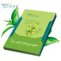 Wholesale Green Tea Films - Ms. Green Tea fragrance oil on paper facial makeup to oil Face blue film 80