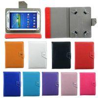 tablet pc 11.6 toptan satış-Evrensel Ayarlanabilir PU Deri Kılıfları Kapak Standı 7 8 9 10 inç Tablet PC MID PSP iPad Tablet için Kılıf Pad Kılıfları
