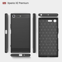 Wholesale Xperia Cell Phone Cases - For Sony Xperia XZ1 Compact Mini Xa1 Ultra Plus E6 L1 Luxury Mobile Cell Phone Shell Hard Back Cover Case Protection Sleeve Carbon Fiber