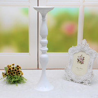 Wholesale Metal Flower Stands Wholesale - 3 colors! Free shipping 50cm height metal candle holder candle stand wedding centerpiece event road lead flower rack home decoration