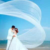 Wholesale Wholesale High Quality Wedding Tulle - 2016 Cheap High Quality Bridal Veil Custom Made Simple Tulle White Ivory Black Red Wedding Party One Layer Tulle Veil
