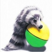 Wholesale New Pet Weasel Funny Motorized Rolling Ball Appears Jump Moving Alive Toy beaver Chases Ball Electronic Pets IC654