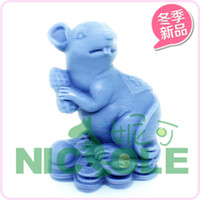 Wholesale Carved Mice - Mouse animal zodiac peanut candle molds ,silicone soap mold ,molds for cakes cake decorating tools kitchen Salt carving