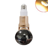 Wholesale Cctv Covers - i-Smart Bulb WiFi HD720P P2P IP Network Camera 2.8mm  3.6mm Lens with Warm Lightand mirror cover CCTV camera outdoor