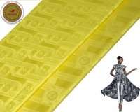 Wholesale Wholesale African Fabrics Textiles - Luminous Yellow 2017 New Arrival Bazin Riche African Fabric Damask Shadda Nigeria Cloth Textile Guinea Brocade