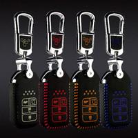 télécommandes honda civic key achat en gros de-Car-style Brand New Haute Qualité en cuir à distance clé Housse de Couverture de Cas Pour Honda civic 10 / Honda Accord