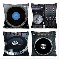 Cuscino cuscino all'ingrosso DIY Custom NUMARK DJ MUSIC CONTROL Throw PillowCase Cuscino Zippered Cover morbido Flannel Zipperer Pillo Throw Piazza