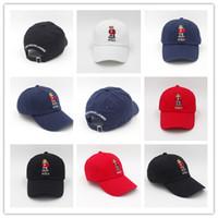 Wholesale caps hip hop style for sale - Group buy 2018 classic style white blue black colors polo bear hats for men hip hop Snapback Caps visor Casquette baseball Cap