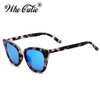 WHO CUTIE 2018 Donne Cat Eye Sunglasses Vintage Retro Fashion Designer di Marca Lente Chiara Cateye Occhiali Da Sole Shades UV400 OM459