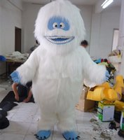 Wholesale Fancy Dress Pictures - Fancytrader 100% Real Pictures Deluxe EVA Abominable Snowman Mascot Costume Fancy Dress Free Ship high qaulity