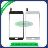 pantalla táctil lumia 625 al por mayor-5.5 pulgadas J700 2015 TP para Samsung Galaxy J7 J700 J700F DUOS Panel de pantalla táctil digitalizador lente del sensor de vidrio de alta calidad piezas