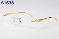 Wholesale Metal Optical Spectacles - Vintage Leopar Retro Optical Glasses Frame For Men Women Metal Rimless Glasses Spectacles Fashion Eyewear With Box