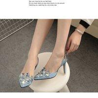 Wholesale Nude Crystal Heels - Womens Pointed toe Rhinestone Crystal wedding shoes Bridal high heeled shoes Pointy Toe Light High Crystal New 2016 Heel Fashion Pumps