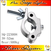 Stage lighting clamps stage lights hook Quick Coupler (aluminio) Pulido para Dia. Ancho del tubo de 38 ~ 52 mm